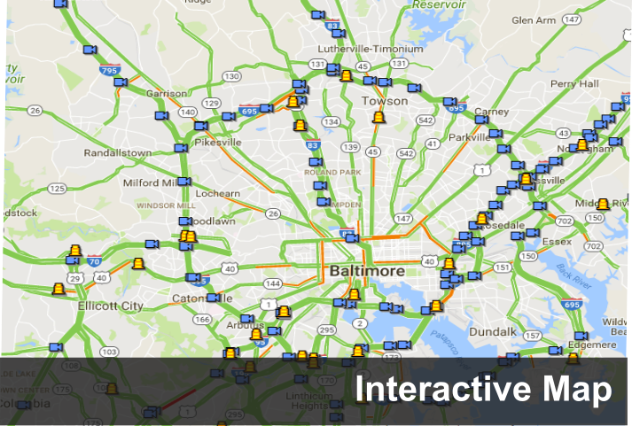 Map Of Usa Roadways A Link To Interactive Map Page Image - Highway map of usa