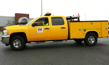 Photo of the SHA Yellow Emergency Truck