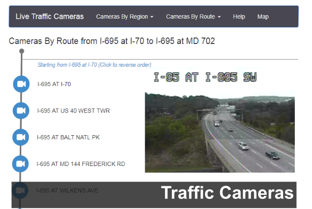 A link to CHART Live Traffic Cameras page image